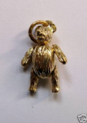 9ct Gold Small Moveable Teddy bear Pendant 2.3g